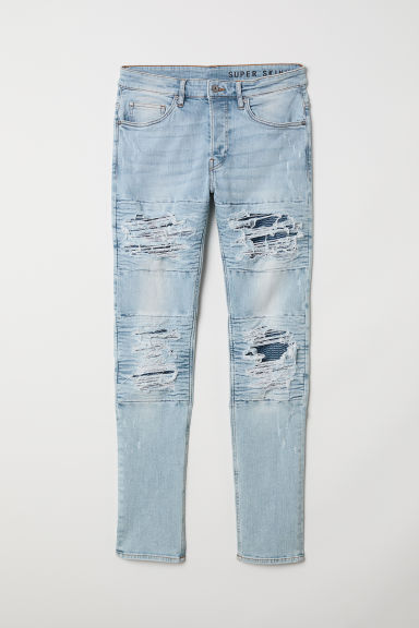 Trashed Skinny Jeans - Light blue - Men | H&M CN