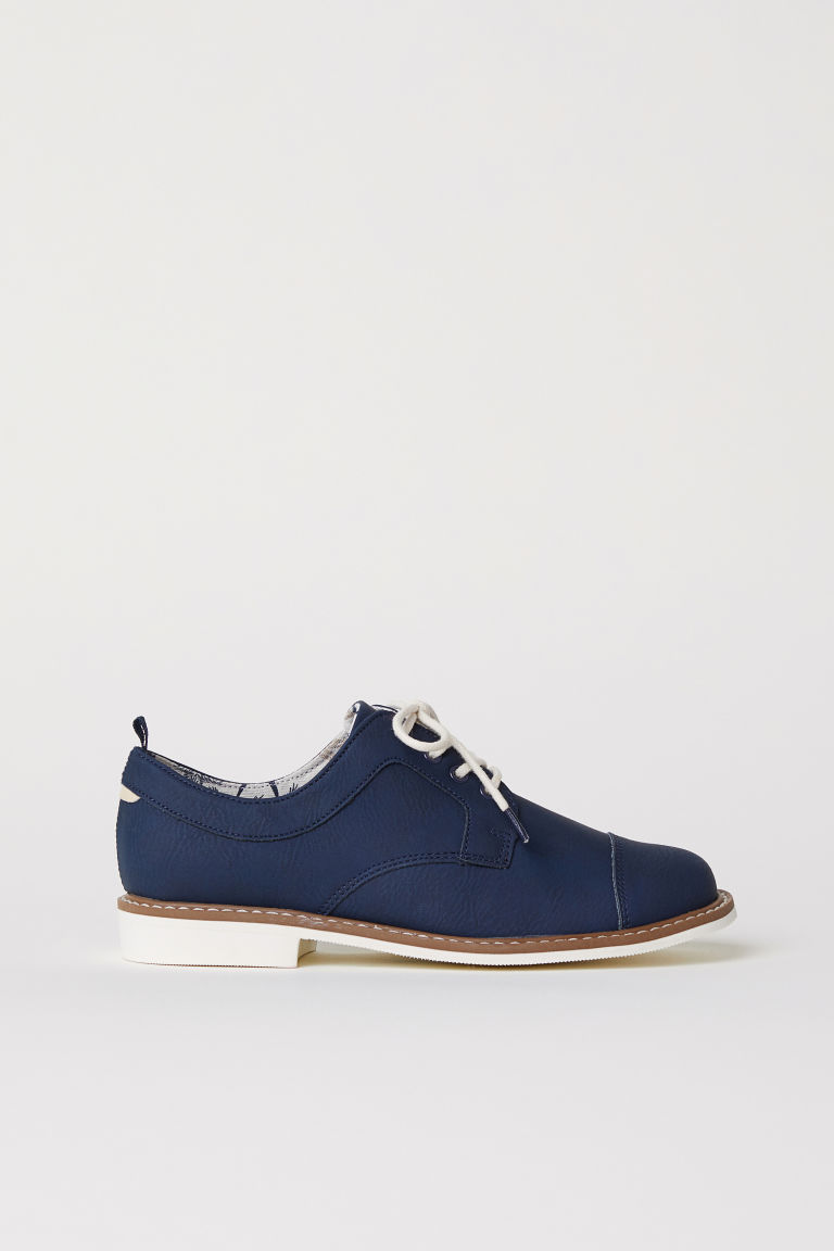 Derby shoes with toe caps - Dark blue - Kids | H&M