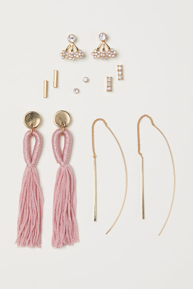 6 pairs earrings - Gold-coloured - Ladies | H&M