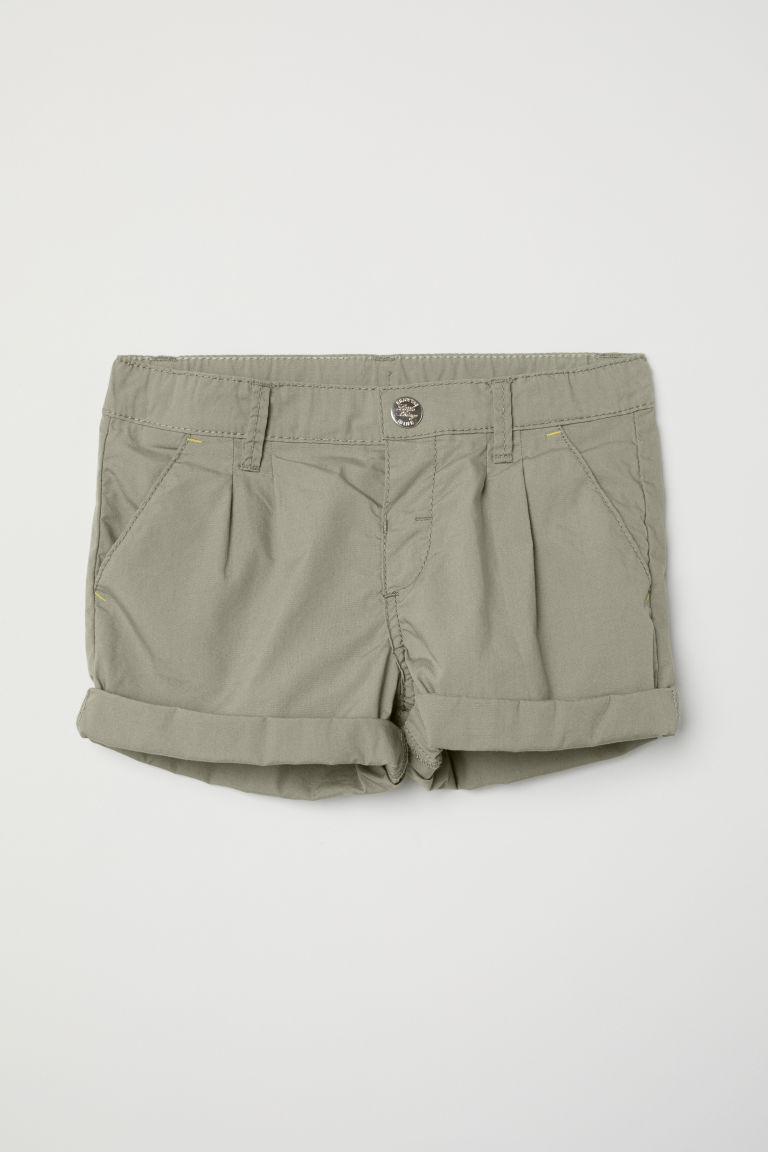Cotton shorts - Khaki green - Kids | H&M CN