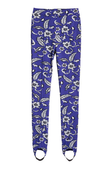 Patterned leggings - Cornflower blue/Patterned - Ladies | H&M GB