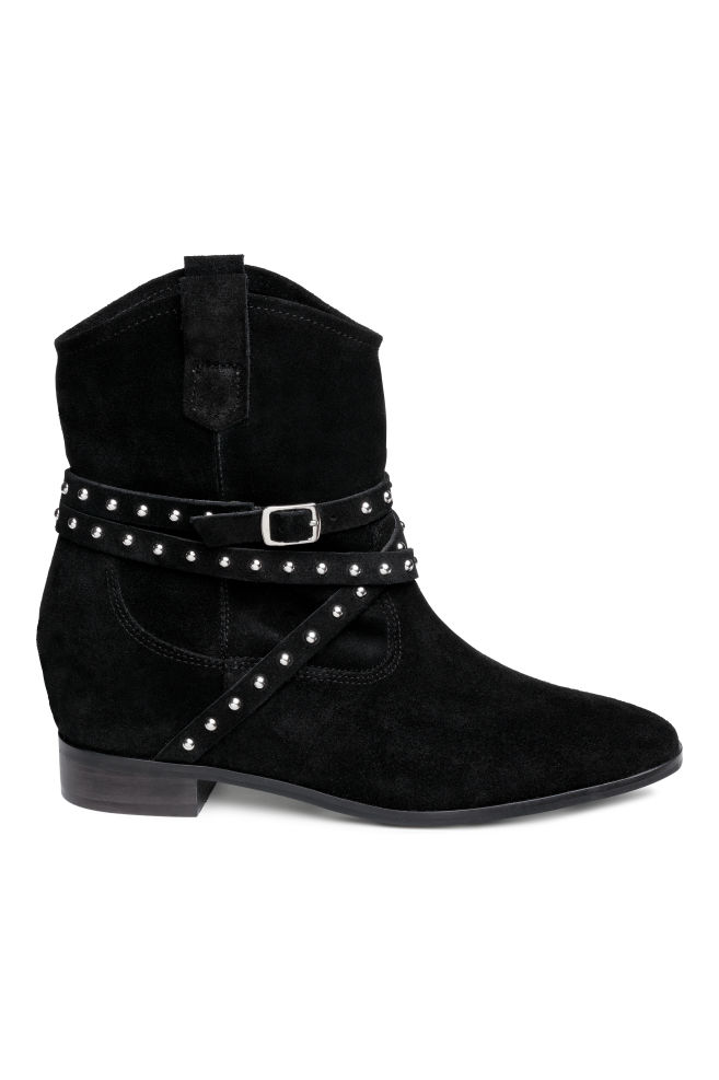 087dc3a25bca Suede ankle boots - Black - Ladies