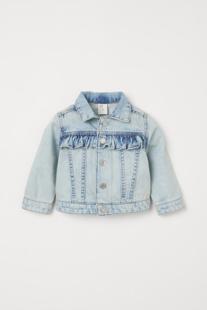 Denim jack met volants