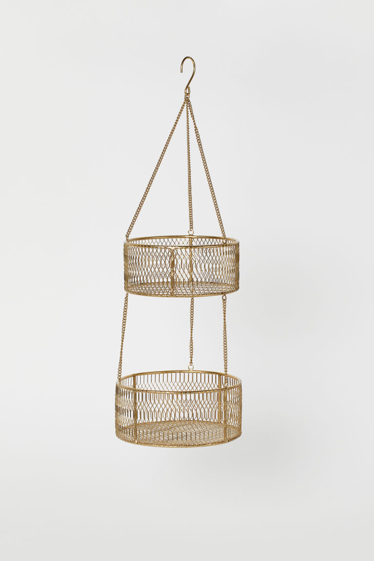 Hanging fruit basket - Gold-coloured - Home All | H&M GB