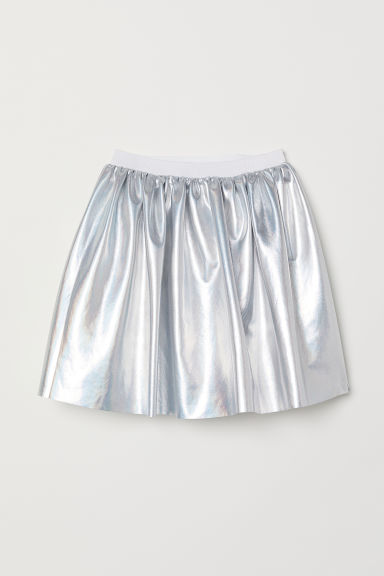 Shimmering metallic skirt - Silver-coloured - Kids | H&M CN