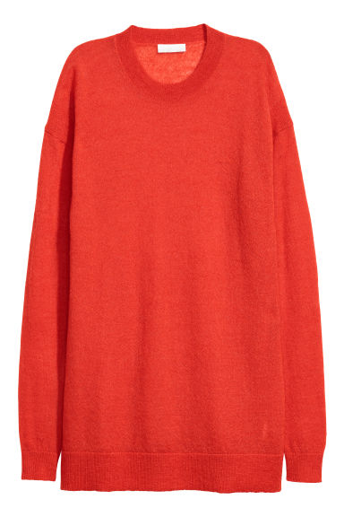 Alpaca-blend jumper - Bright red - Ladies | H&M
