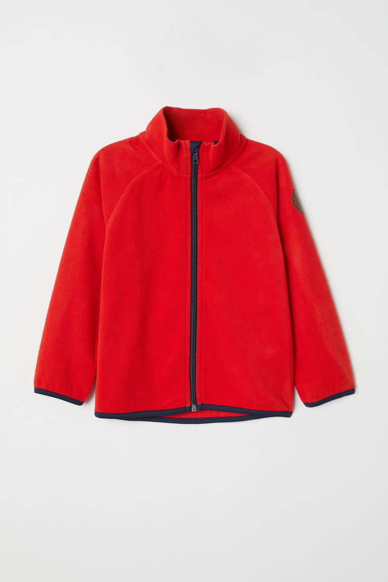 Fleece jacket - Bright red - Kids | H&M