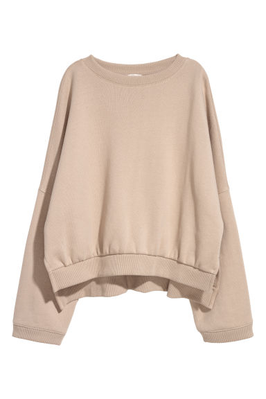 Oversized sweater - Beige - DAMES | H&M NL