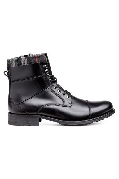 Leather boots - Black - Men | H&M IE