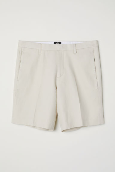 Chino shorts Slim Fit - Beige - Men | H&M