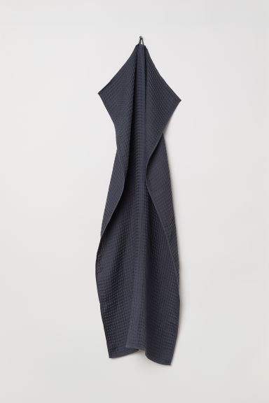Waffled bath towel - Anthracite grey - Home All | H&M CN
