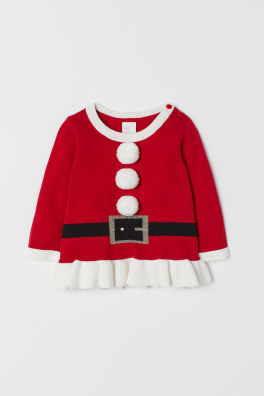 Baby Kersttrui.Sale Baby Meisjes Truien Vesten Maat 68 104 H M Nl