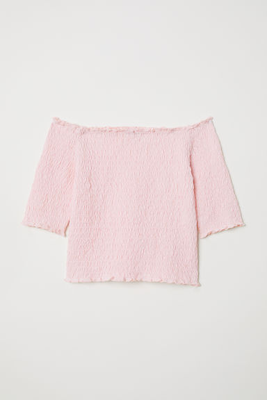 Off-the-shouldertop - Lichtroze - KINDEREN | H&M BE