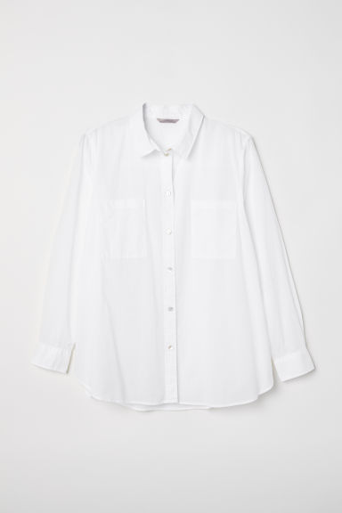 H&M+ Cotton shirt - White -  | H&M CN