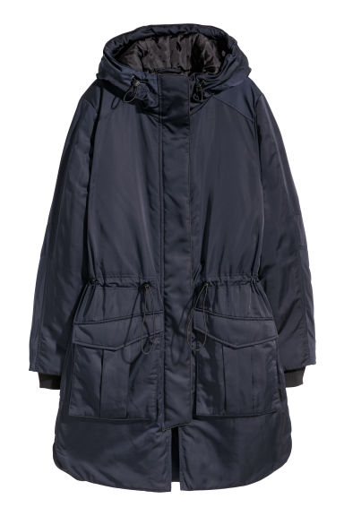 Parka with a hood - Dark blue - Ladies | H&M CN