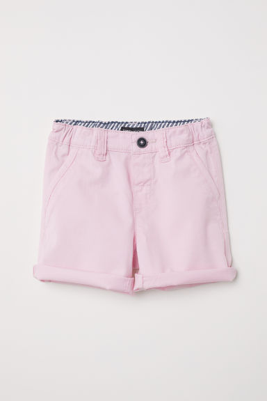 Cotton twill shorts - Light pink -  | H&M CN