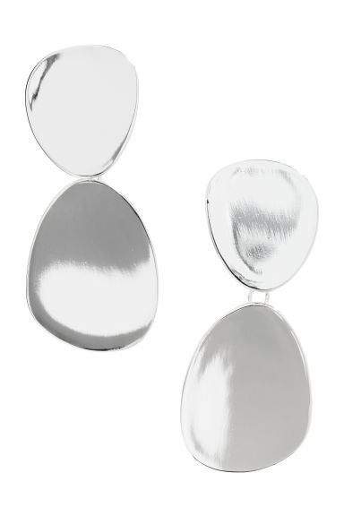 Large earrings - Silver-coloured - Ladies | H&M CN