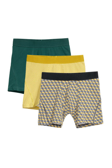 3-pack boxer shorts - Dark green -  | H&M
