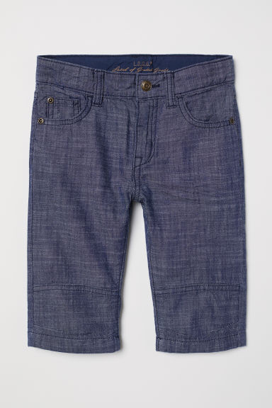 Clamdiggers - Dark blue/Chambray - Kids | H&M