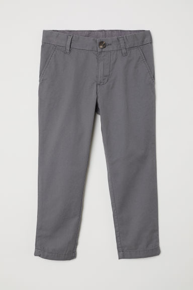 Cotton chinos - Grey - Kids | H&M CN