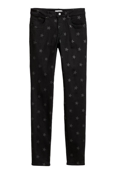 Stretch trousers - Black/Stars -  | H&M