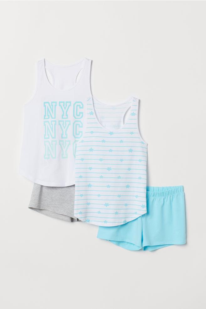 115a884201ca 2-pack pyjamas - Light turquoise NYC - Kids