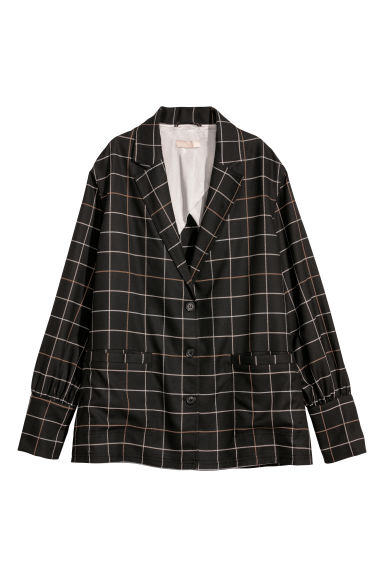 Checked jacket - Dark brown/Checked -  | H&M