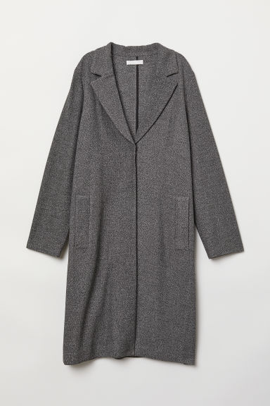 Straight-cut coat - Black marl - Ladies | H&M CN