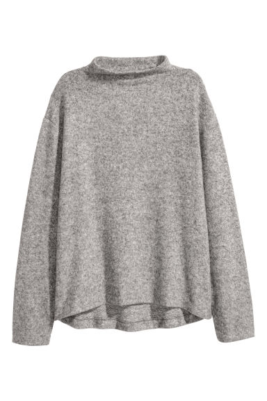 Wide top - Grey marl - Ladies | H&M CN