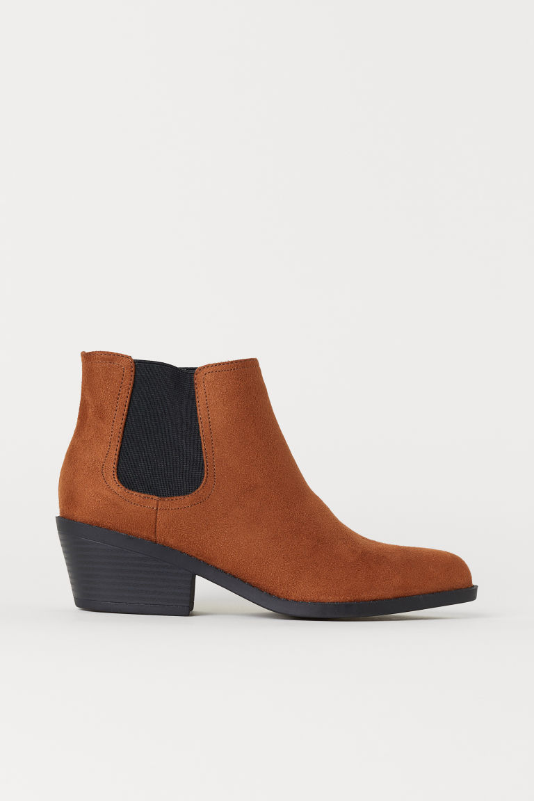 Pointed Chelsea boots - Cognac brown -  | H&M