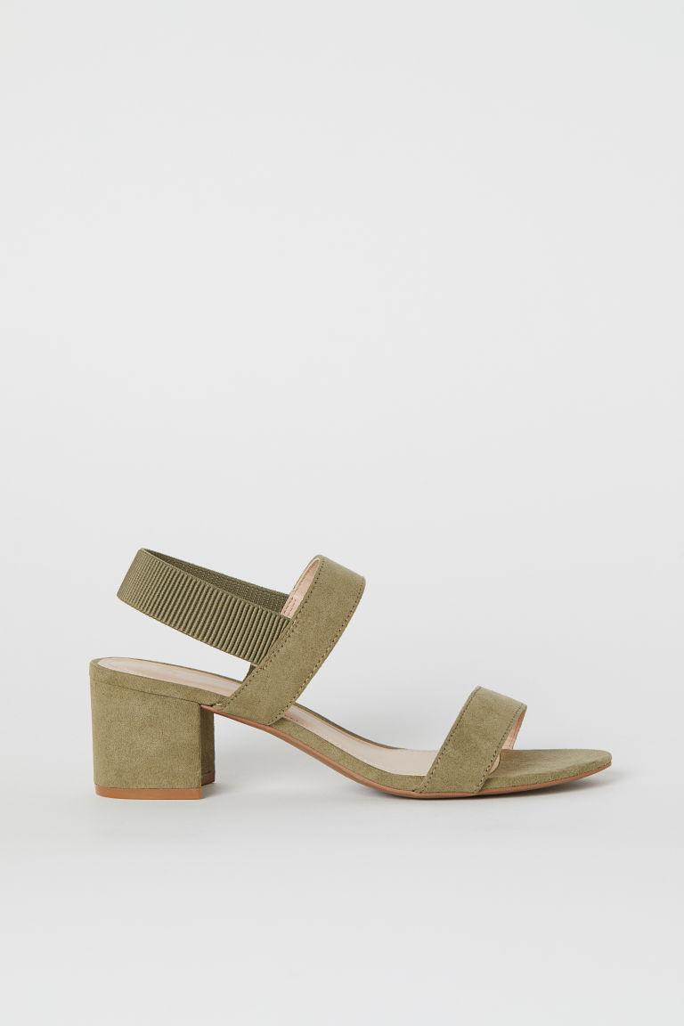 Sandals - Khaki green - Ladies | H&M