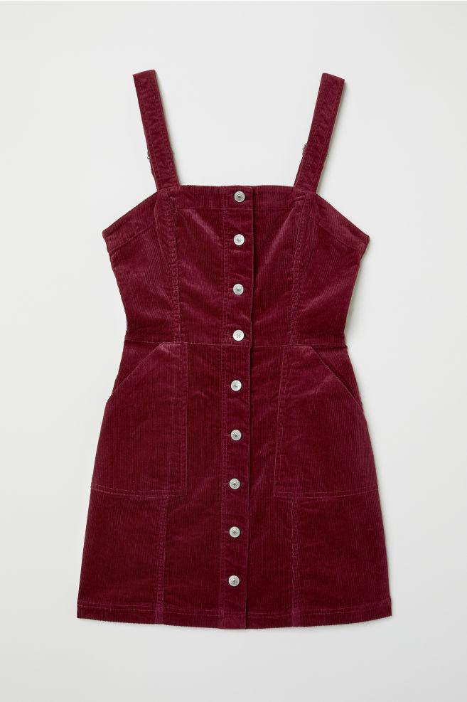 f2a4be7df5c Dungaree dress - Burgundy Corduroy - Ladies