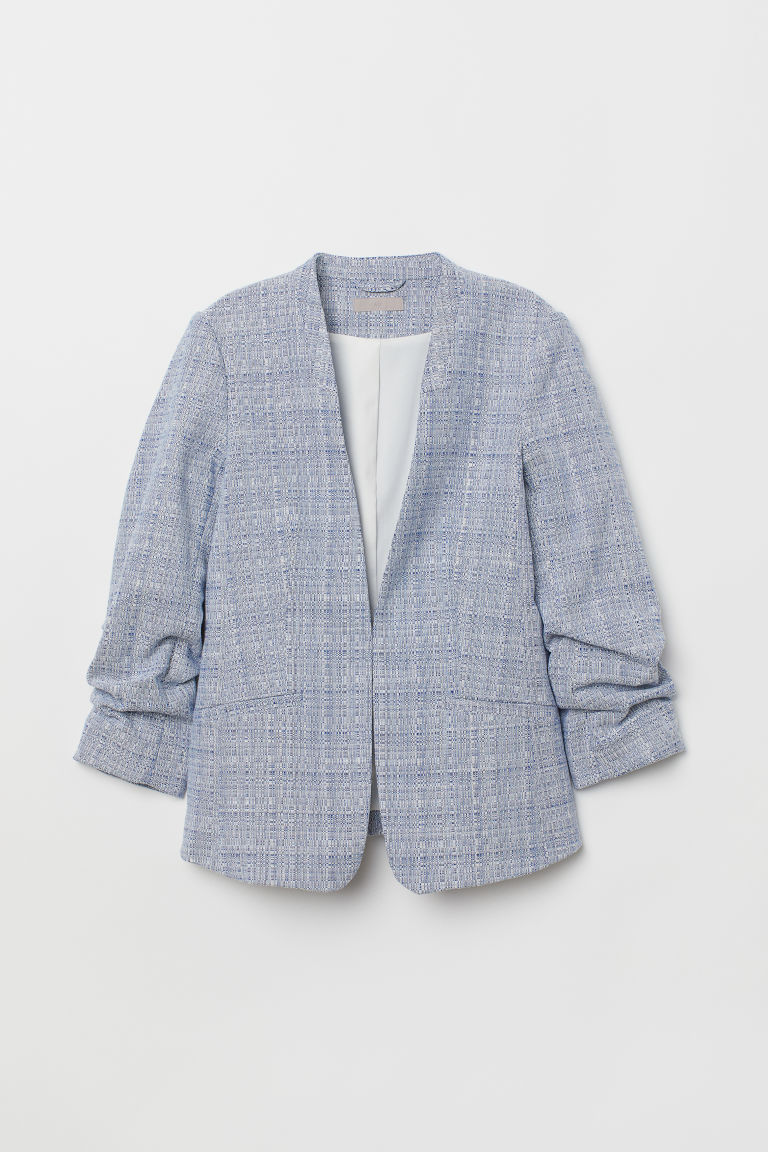 Fitted jacket - Light blue marl - Ladies | H&M CN