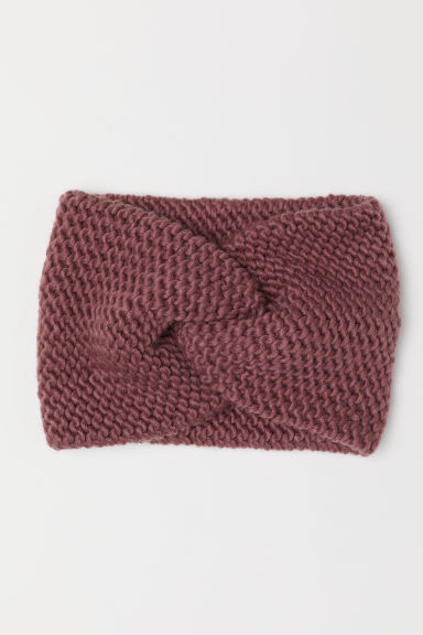 Knitted hairband - Dark pink - Ladies | H&M CN