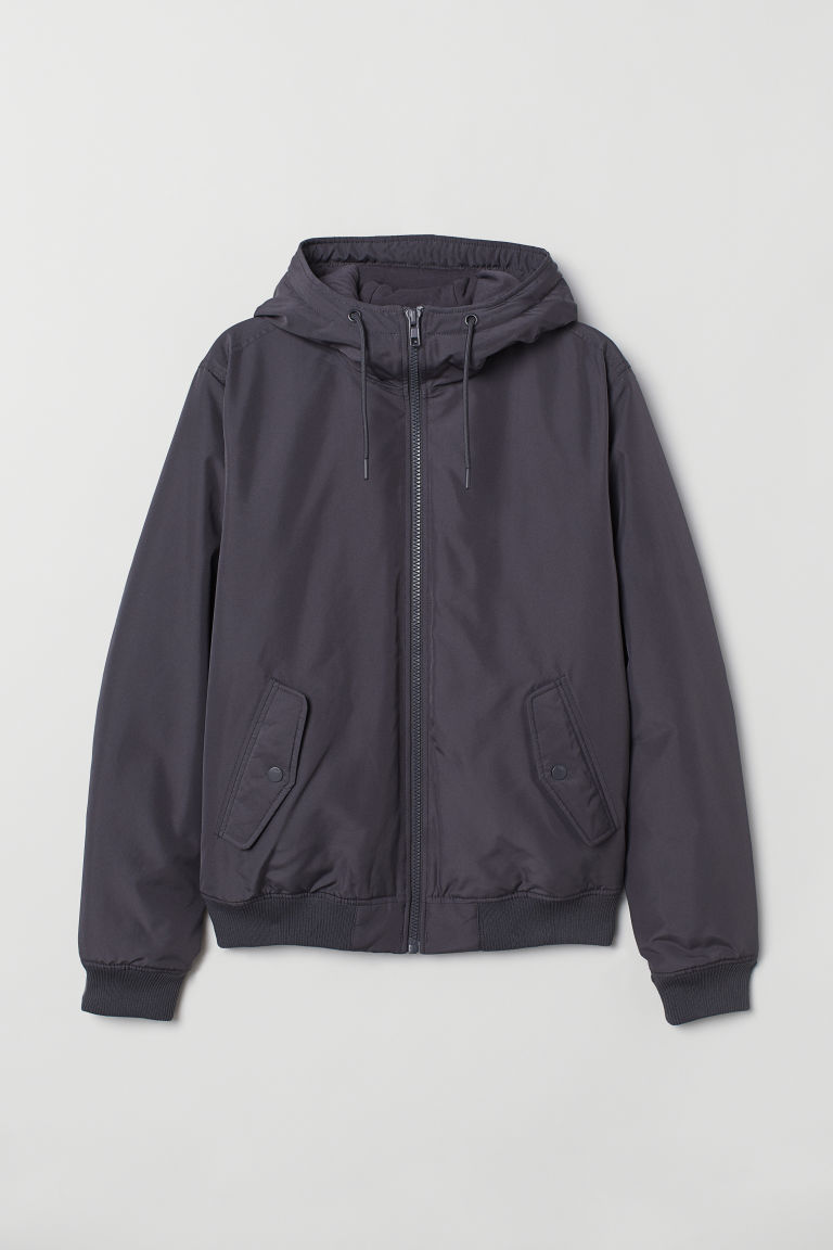 Padded jacket - Dark grey - Men | H&M CN