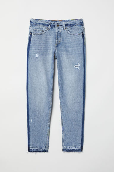 Boyfriend Low Ripped Jeans - 浅牛仔蓝 - 女 | H&M CN