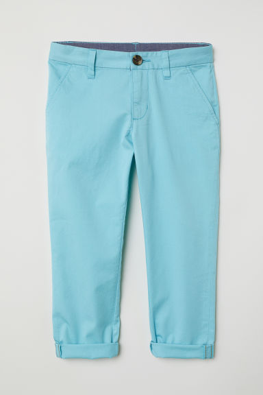 Cotton chinos - Turquoise - Kids | H&M CN