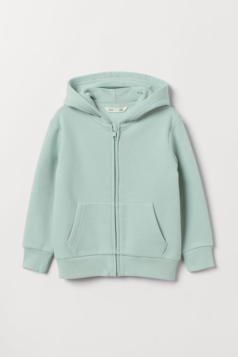 Hooded jacket - Dusky green - Kids | H&M CN