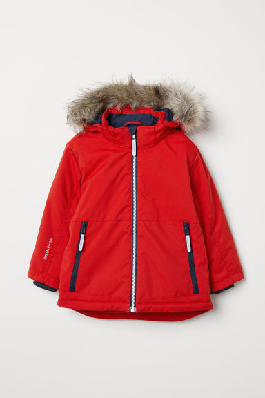 Water-repellent padded jacket - Bright red - Kids | H&M IN
