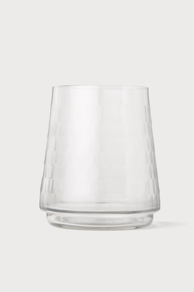 Vase à facettes - Verre transparent - Home All | H&M FR