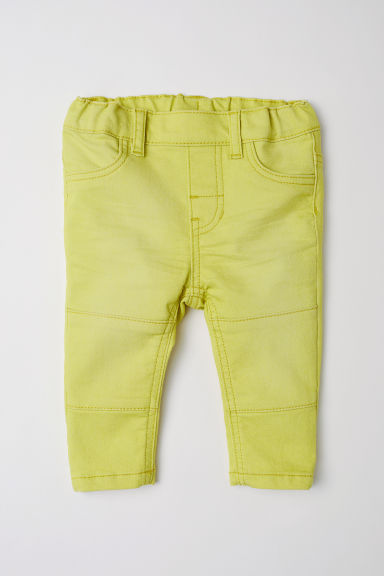 Treggings in twill - Giallo - BAMBINO | H&M IT