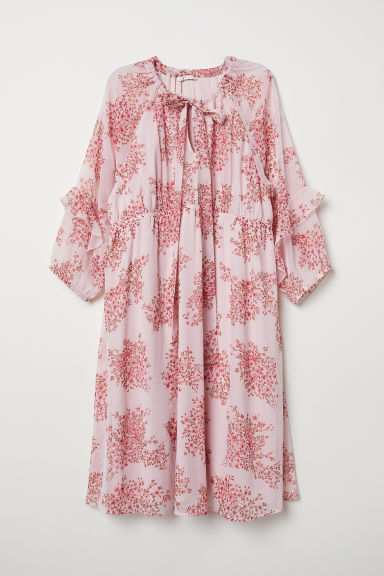 MAMA Patterned dress - Light pink/Floral - Ladies | H&M