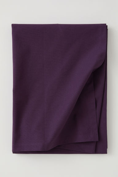 Cotton tablecloth - Dark purple - Home All | H&M CN