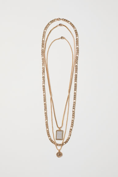 3-pack metal necklaces - Gold-coloured -  | H&M