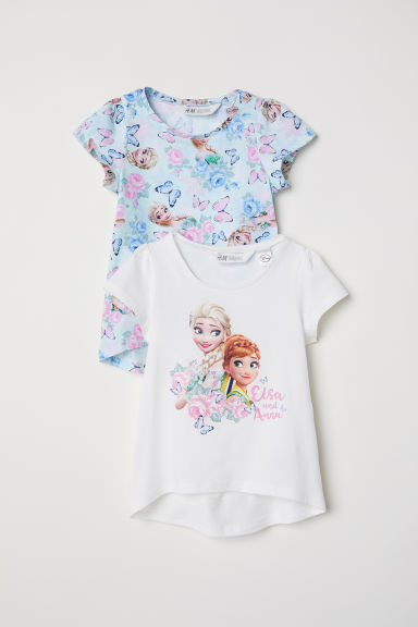 2-pack jersey tops - Light turquoise/Frozen - Kids | H&M CN