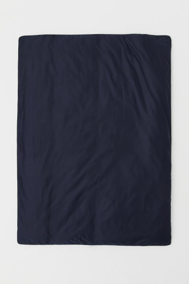 Cotton Satin Duvet Cover - Dark blue - Home All | H&M US