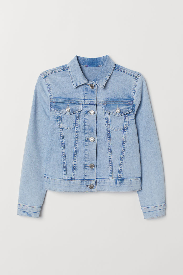 Denim jacket - Light denim blue - Kids | H&M CN