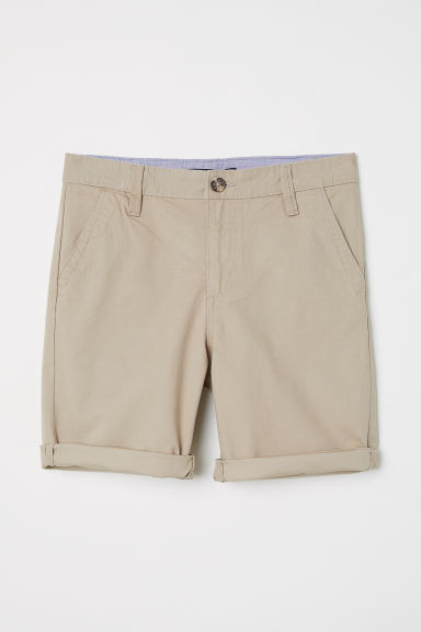 Short chino Coupe ample - Beige -  | H&M CH