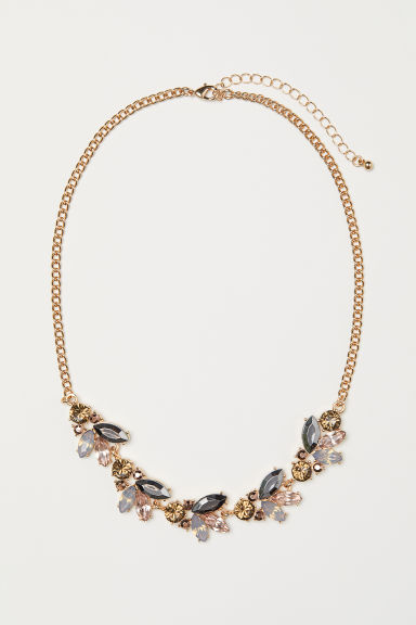 Necklace - Gold-coloured/Light pink - Ladies | H&M