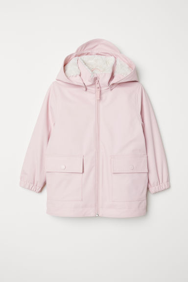 Pile-lined rain jacket - Light pink - Kids | H&M